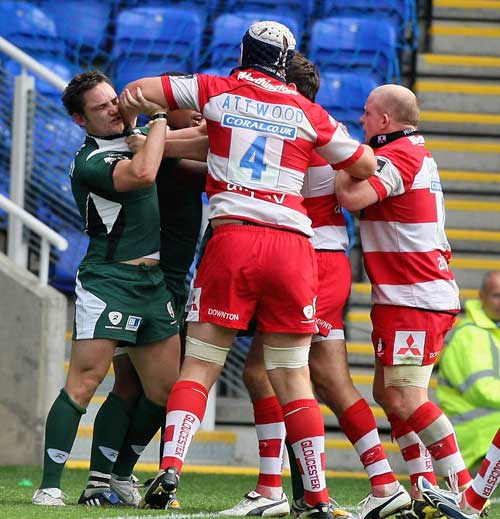 Tempers flare between London Irish and Gloucester