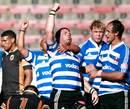 Western Province skipper Luke Watson celebrates a try