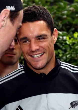 New Zealand's Dan Carter is all-smiles in Milan, All Blacks training session, Palalido, Milan, Italy, November 9, 2009