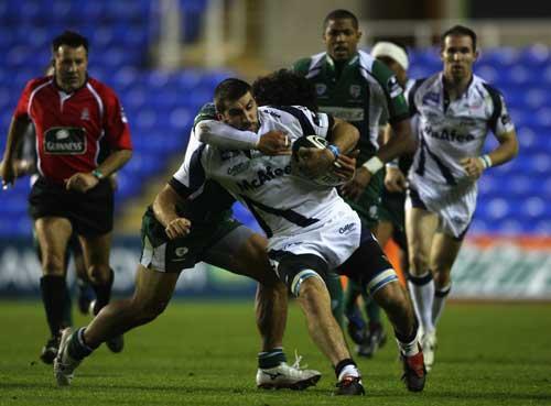 Juan Martin Fernandez Lobbe is tackled