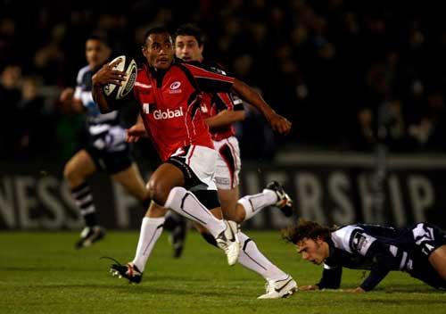 Kameli Ratuvou breaks clear of the Bristol defence