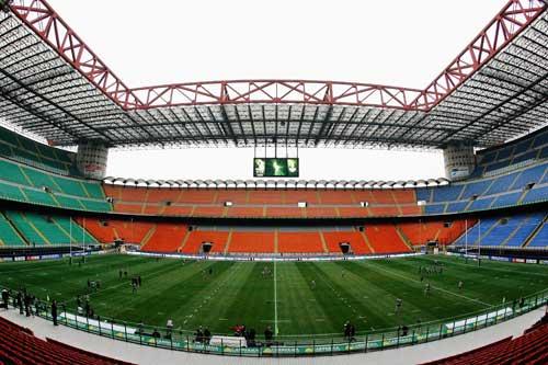The San Siro Stadium in Milan