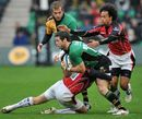 Northampton's Ben Foden is tackled by Alex Goode