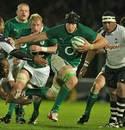 Ireland's Stephen Ferris holds off Fiji's Isireli Ledua