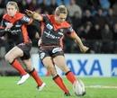 Toulon fly-half Jonny Wilkinson slots a kick
