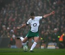 Ireland fly-half Jonathan Sexton kicks a penalty