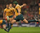 Australia's Matt Giteau clears his lines