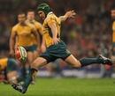 Australia's Matt Giteau clears his lines