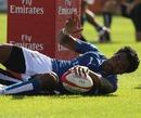 Samoa's Simaika Mikaele touches down
