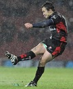 Saracens Derick Hougaard slots a kick