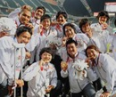 Japan celebrate victory at the 2009 East Asian Games