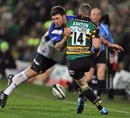 Bath's Matt Banahan challenges Northampton's Chris Ashton