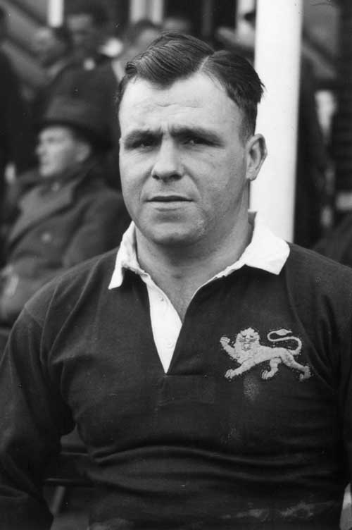 Welsh prop Cliff Davies representing the British and Irish Lions in 1950