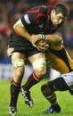 Edinburgh's Jim Hamilton takes the ball into contact