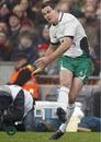 Ireland fly-half Jonathan Sexton lands a penalty