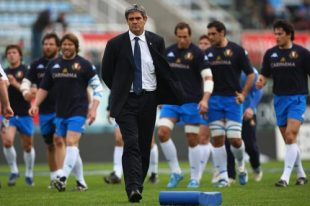 Nick Mallett the Italy coach prior to the RBS Six Nations Championship match between Italy and Scotland at the Stadio Flaminio, Rome, Italy, March 15, 2008.