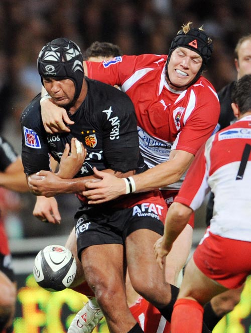 Biarritz flanker Magnus Lund in action during the 2008-09 Top 14 Championship