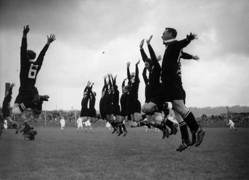 New Zealand perform the Haka, c.1953.