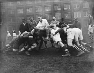 Ireland forwards scrum down, c.1937.