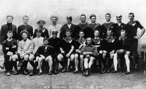 New Zealand rugby team c.1905.
