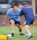 Bulls hooker Gary Botha takes part in a pre-season drill