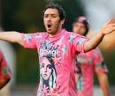 Stade Francais scrum-half Julien Dupuy appeals a decision