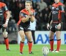 Toulon's Jonny Wilkinson lines up a kick