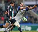 Stade Francais' Ignacio Mieres clears his lines