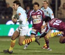 Perpignan's Joffrey Michel evades the Bourgoin defence