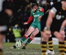 Scarlets fly-half Rhys Priestland slots a kick