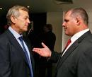 Waratahs coach Chris Hickey and Reds coach Ewen McKenzie