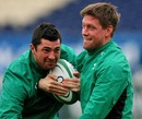 Ireland's Rob Kearney tackles team-mate Rob Kearney