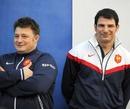 France forwards coach Didier Retière and head coach Marc Lievremont