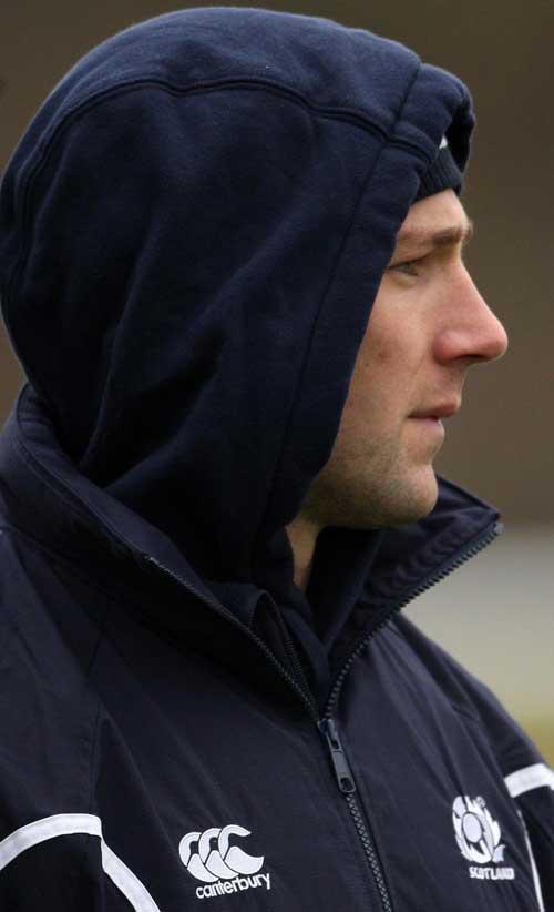 Scotland co-captain Chris Cusiter pictured during training