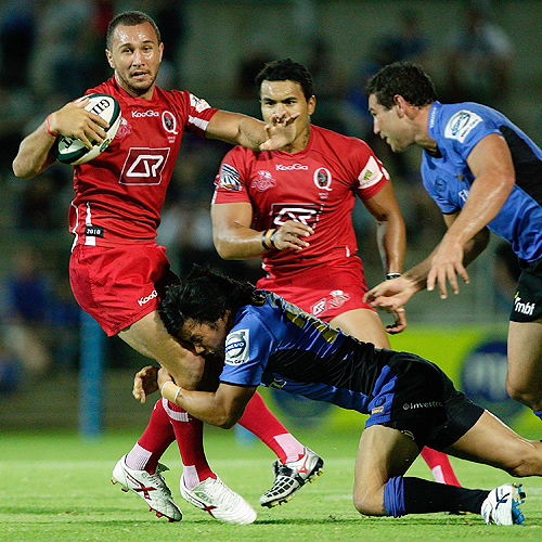 Quade Cooper gets involved as his Queensland Reds lose a trial 31-12  to Western Force
