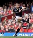 Scotland fullback Chris Paterson kicks the conversion