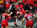 Saracens' Alex Goode claims a high ball