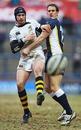 Wasps fly-half Danny Cipriani kicks the ball past Leeds' Richard Welding