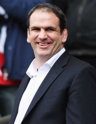 England manager Martin Johnson is caught smiling, England v France, Six Nations Championship, Twickenham, England, March 15, 2009